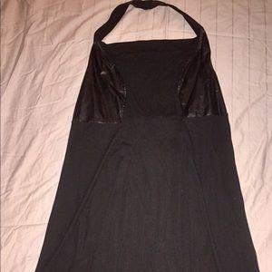 Lane Bryant club halter dress